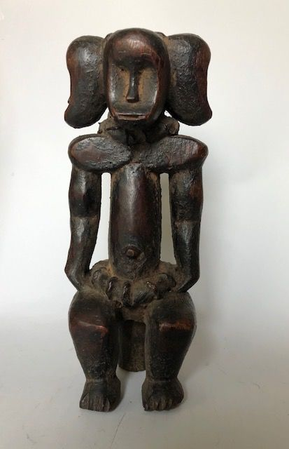 Fang protection image with 3 heads (1) - Wood - Fang - Gabon