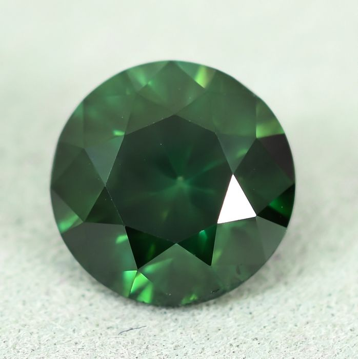 Diamond - 2.00 ct - Brilliant - Colour Treated, Fancy Deep Green - SI2