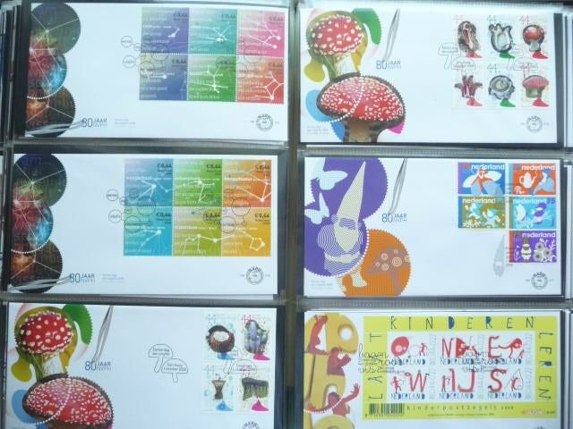 Netherlands 2001/2008 - Collection of 8 years of FDCs - NVPH E435/E580