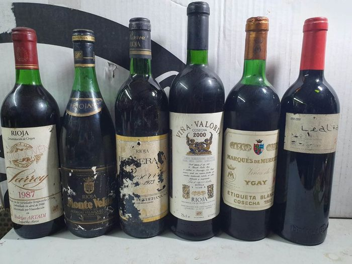 Lot of Reservas & Grandes Reservas - La Rioja - 6 Bottles (0.75L)