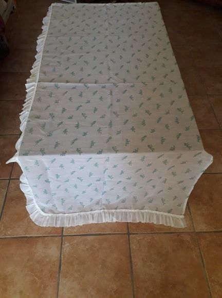 Veil curtains with blue flowers (2) and pink flowers (2) (4) - transparent sail