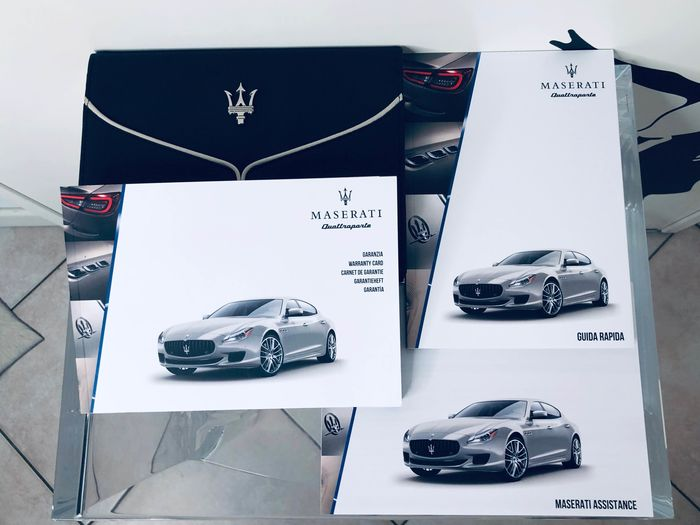 use and maintenance manual - guarantee - Maserati - Quattroporte M156 - 2018