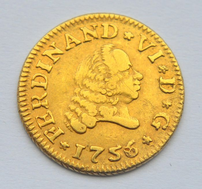Spain - 1/2 Escudo 1756 Ferdinand VI - Gold