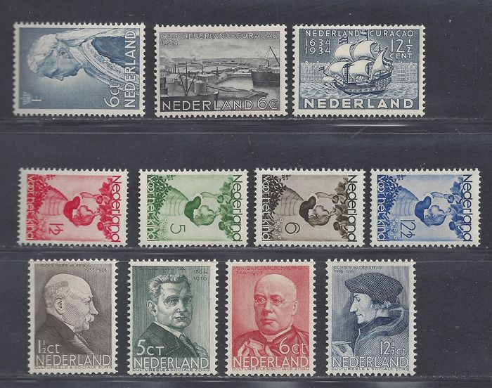 Netherlands 1934/1936 - Various issues - NVPH 267/269, 279/286