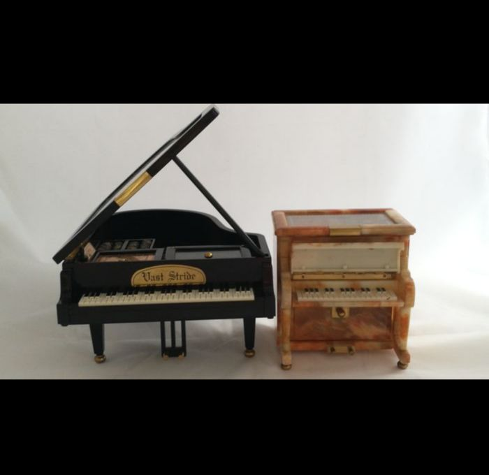 Jewellery box, Music box, grand piano, piano - Brass, Plastic