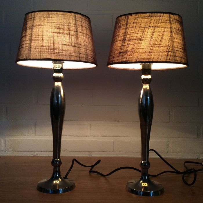 AC - Table / Bed Lamps - Metal Silver colored