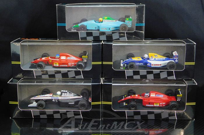 Onyx - 1:43 - Set 5 early 90's Formula 1 Collection - Ferrari 643 F1-91 / Morbidelli #27 - F92A / Capelli #28 - Williams Renault FW14 / Patrese #6 - Leyton House March / Gugelmin #15 - Tyrrel Honda 020 /Modena #4
