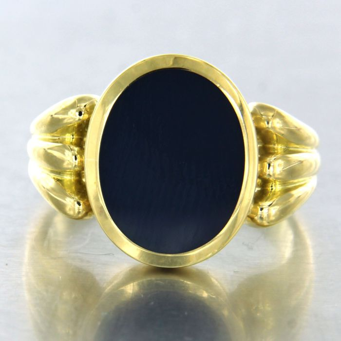 18 kt. Yellow gold - Ring Stone Layers