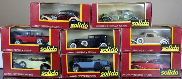 "Solido - 1:43 - Age d'or ""Les Modeles Prestigieux 1925/1940 - first series / numbering"