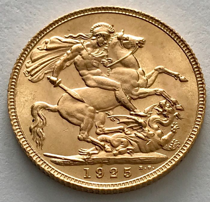 Royaume-Uni - Sovereign 1925 - George V. - Or