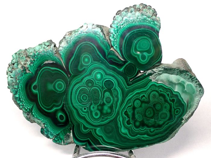 Natural Malachite Disk 1475ct - 146.2×112.14×8.14 mm - 295 g