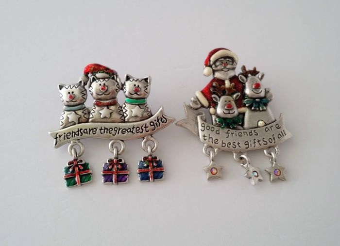 AJMC Pewter - Christmas Brooches