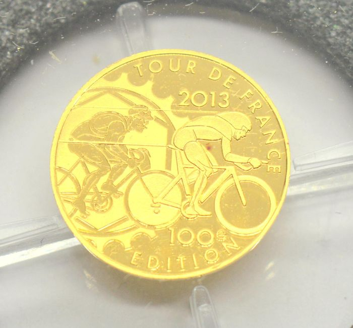 France - 5 Euro 2013 Tour De France with box and CoA - Gold