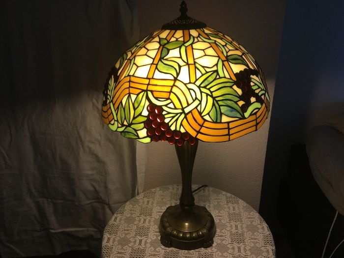 Table lamp - Stained Glass Hood