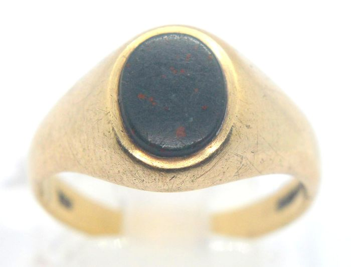 9 kt. Yellow gold - Ring - 1.75 ct Onyx