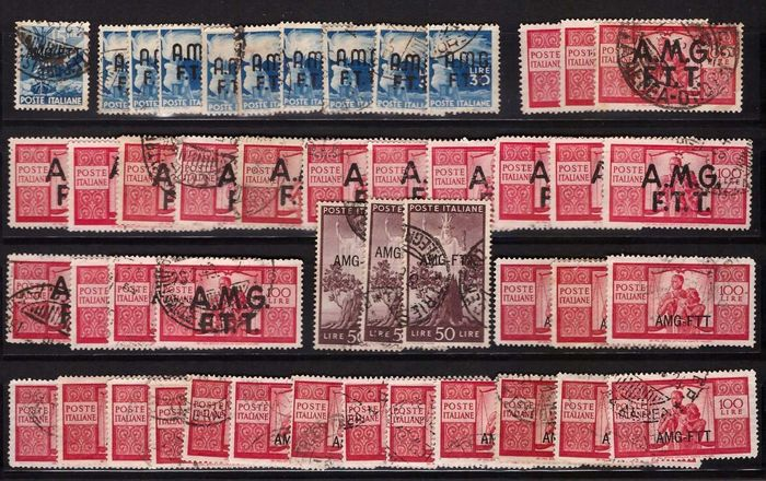 Triest - Zone A - AMG-FTT - stock of stamps