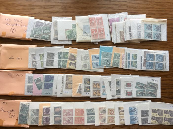 Espagne 1961/1964 - Complete collection x 4 sets and miniature sheet