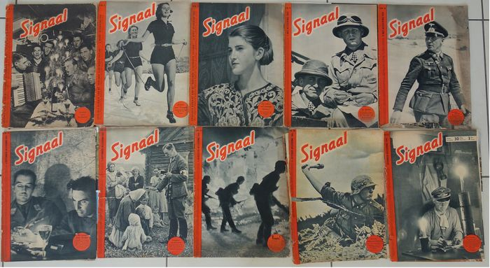 Netherlands - Lot of 10 original Signaal magazines of the year 1941. - 1941