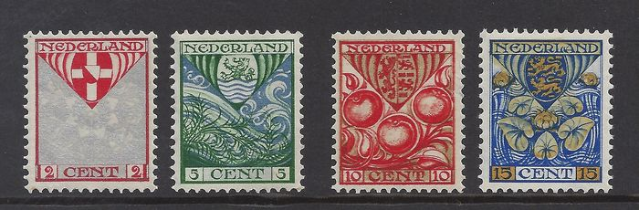 Netherlands 1926 - Children's Aid stamps with vertical watermark - NVPH 199a/202a