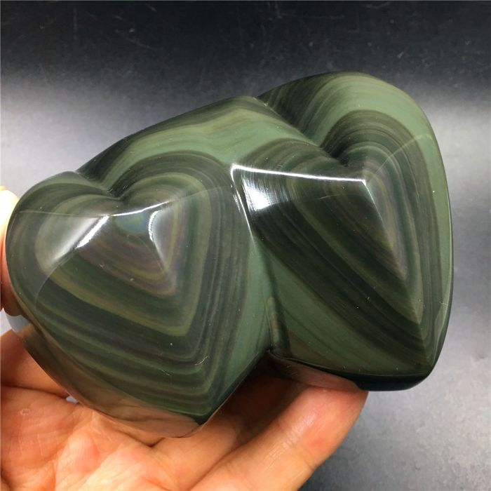 Obsidian Heart - 110×83×55 mm - 551 g
