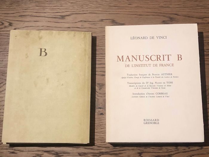 Leonardo da Vinci - Manuscrit B, de L'Institute de France - 1960