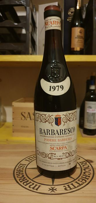 1979 Barbaresco Scarpa Podere Barberis - Piedmont - 1 Bottle (0.75L)
