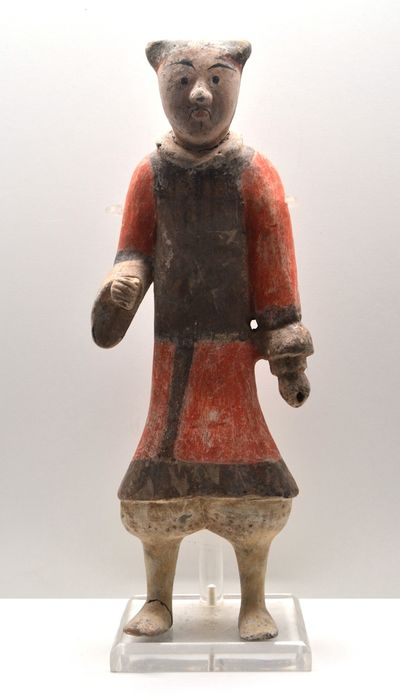 Iconic Han Dynasty Soldier - Painted Clay - China - Han Dynasty (206 to 221 B.C)