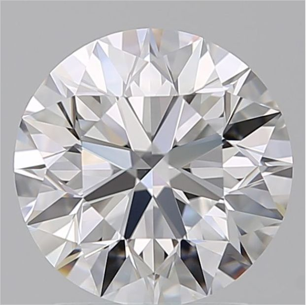 1 pcs Diamanten - 0.50 ct - Brillant - F - VS2