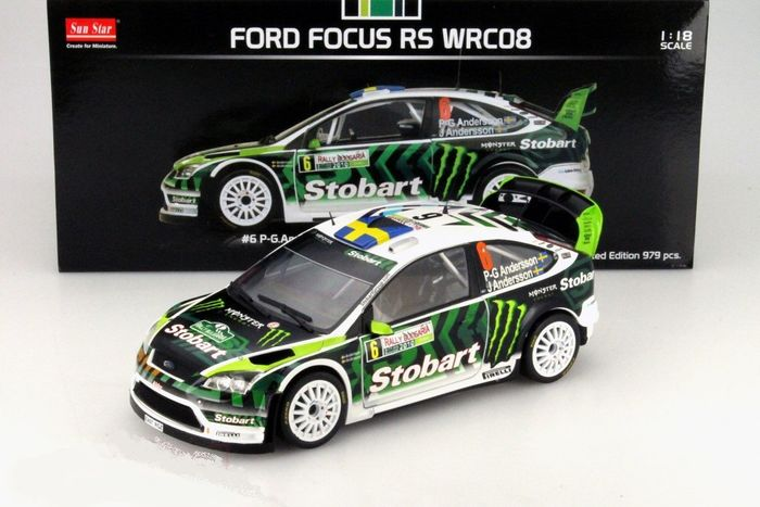 Sunstar - 1:18 - Ford Focus RS WRC08 #6 Rally Bulgaria 2010 - Limited Edition or 979 pcs. (Individually Numbered)