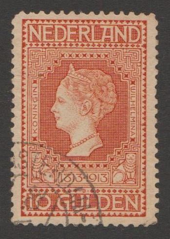 Netherlands 1913 - Independence with plate error - NVPH 101p