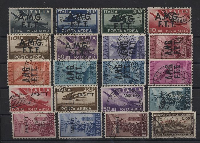 Triest - Zone A 1947/1952 - AMG-FTT - Lot with values from the period in sets and single stamps - Sassone Vari