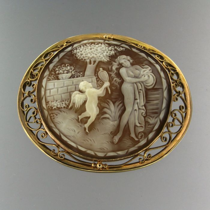 8e9ee7cc4d 14 kt. Pink gold - Brooch, Pendant cameo - Catawiki
