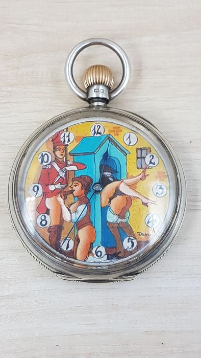 American Waltham Watch Co - Erotic Hand-moving Pocket Watch - Unisex - 1901-1949