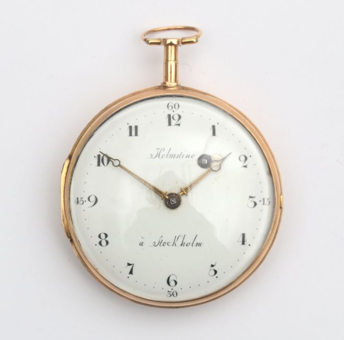 Helmstine - hughe gold verge watch Stockholm 1785 - Men - Earlier than 1850
