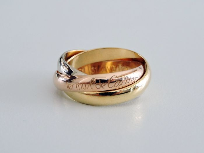 "Cartier Trinity Tricolor - ""Les Must de Cartier"" - 18 kt. Yellow, white and pink gold, in 18 kt gold 750  - Ring"
