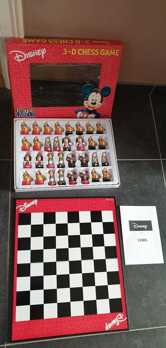 Disney - 3D Chess Game - United Labels Comicware - Mickey & Friends - (1990)