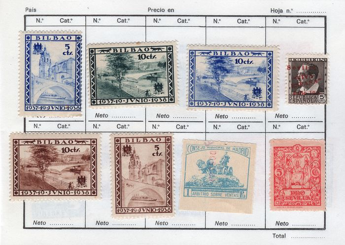Spain 1936/1939 - Civil War booklet - +95 different stamps