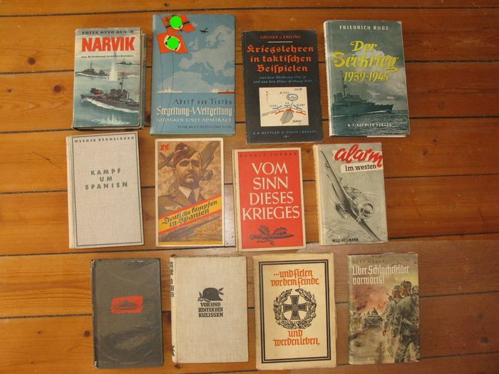 Germany - LW KM infantry tank division - Collection 12 books Legion Condor tanks sea war weapons