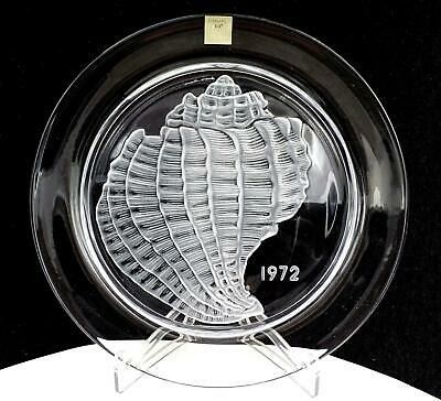 Lalique - 1972 Year Plate - Coquillage - Crystal