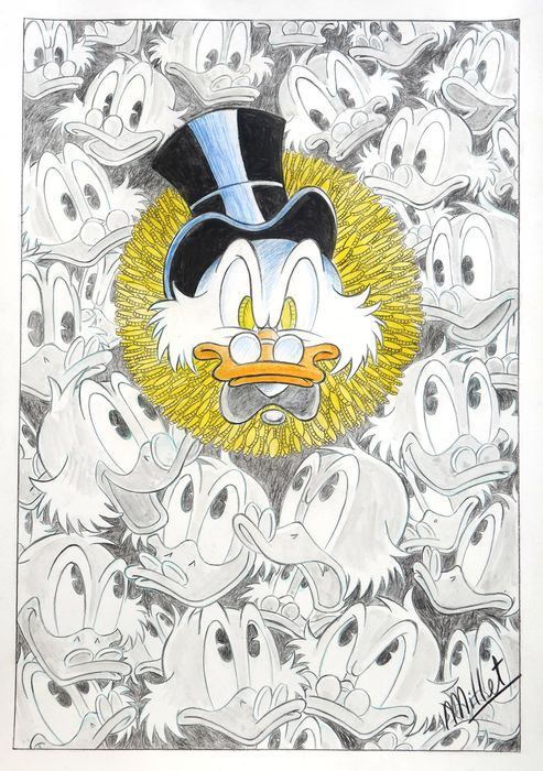 Scrooge McDuck - Original Drawing DIN A3 - Millet - First edition