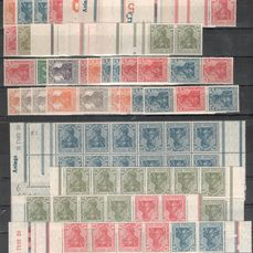 "Empire allemand 1919/1921 - ""Germania"" - lot with se-tenants"