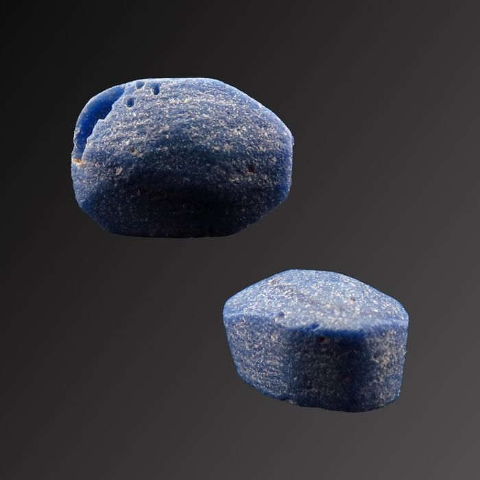 Ancient Egyptian Lapis Scaraboide - 8×5×4 mm - (1)