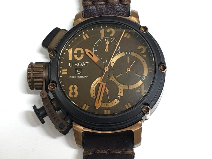 U-Boat - Chimera Bronze Limited Edition - Automatic Chronograph - 6946 - Heren - 2011-heden