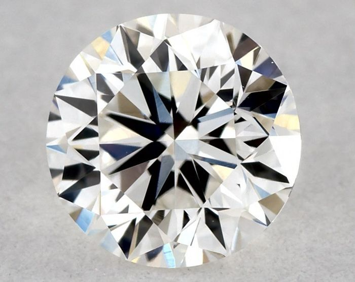 1 pcs Diamond - 0.51 ct - Brilliant, Round - F, Low Reserve Price - VVS2, Free Worldwide Shipping