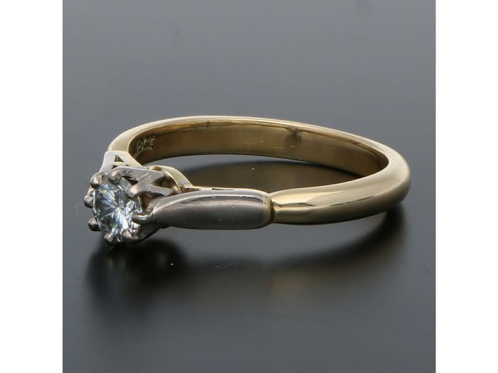 18 kt. Gold - Ring - 0.29 ct Diamond