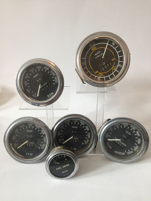 car speed meters - Jaeger - 50'er - 60'er dashbord meters - 1950-1960
