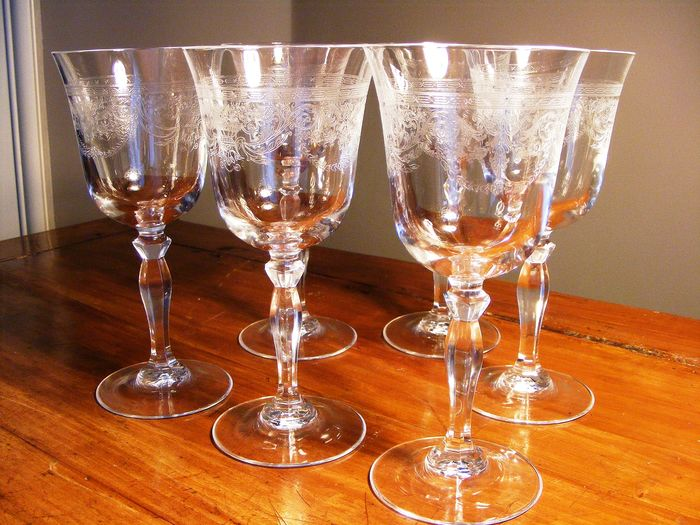 J G Durand - glasses (6) - Empire Style - Crystal