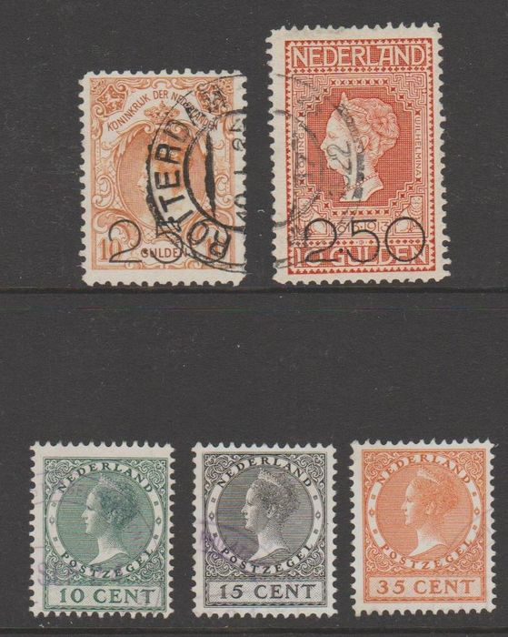 Netherlands 1920/1924 - Clearance and Exhibition - NVPH 104/105, 136/138