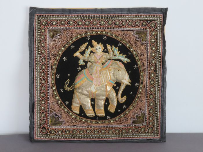 Burmese Kalaga tapestry (1) - diverse materials - Mandalay - 2nd half of 20th century