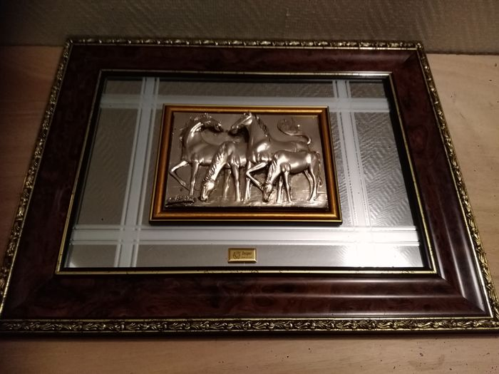 picture frame of the chauveaux 925 silver (1) - .925 silver, mirror - LM.Designer - Italy - 19th